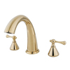 Elements of Design English Country Polished Brass 2-Handle-Handle Adjustable Deck Mount Bathtub Faucet