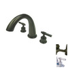 Elements of Design Oil-Rubbed Bronze 2-Handle Adjustable Deck Mount Tub Faucet