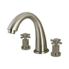 Elements of Design Nuvo Satin Nickel 2-Handle Adjustable Deck Mount Tub Faucet