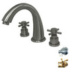 Elements of Design Satin Nickel 2-Handle Adjustable Deck Mount Tub Faucet