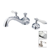 Elements of Design Hot Springs Chrome 2-Handle Adjustable Deck Mount Tub Faucet