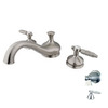Elements of Design Hot Springs Satin Nickel 2-Handle Adjustable Deck Mount Tub Faucet