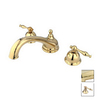 Elements of Design Chicago Polished Brass 2-Handle Adjustable Deck Mount Tub Faucet