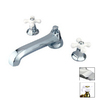 Elements of Design New York Chrome 2-Handle Adjustable Deck Mount Tub Faucet