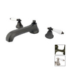 Elements of Design New York Oil-Rubbed Bronze 2-Handle Adjustable Deck Mount Tub Faucet