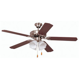 Shop yosemite home decor 52 in builder dark brown ceiling for Home decorators light kit