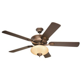 Yosemite Home Decor 52-in Barcelona Oil-Rubbed Bronze Ceiling Fan with Light Kit