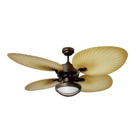 Yosemite Home Decor California Breeze 52-in Chocolate Brown Outdoor Downrod Mount Ceiling Fan with Light Kit