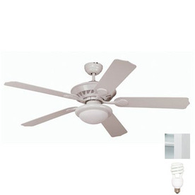 Yosemite Home Decor 52-in Lindsey White Ceiling Fan with Light Kit and Remote