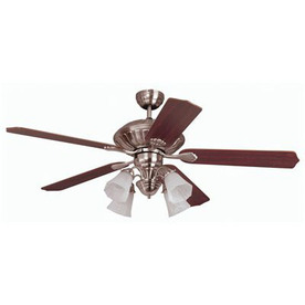 Yosemite Home Decor 52-in Melissa Brushed Steel Ceiling Fan with Light Kit and Remote