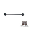 Anne at Home Oak Pewter with Cherry Wash 24-in Towel Bar