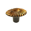 Century Hardware Orchid Brushed Antique Copper Round Cabinet Knob