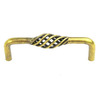 Century Hardware 4-in Center-To-Center Antique Brass Orleans Novelty Cabinet Pull