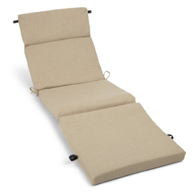 Blazing Needles 72-in L x 24-in W Sandstone Chaise Cushion