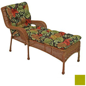Blazing Needles 74-in L x 22-in W Lime Patio Chaise Lounge Cushion