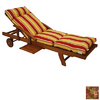 Blazing Needles 76-in L x 21-in W Passion Ruby Chaise Cushion