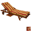 Blazing Needles 76-in L x 21-in W Montfleuri Sangria Chaise Cushion
