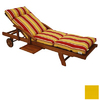 Blazing Needles 76-in L x 21-in W Lemon Chaise Cushion