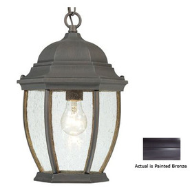 Thomas Lighting Convington 14-in Painted Bronze Outdoor Pendant Light