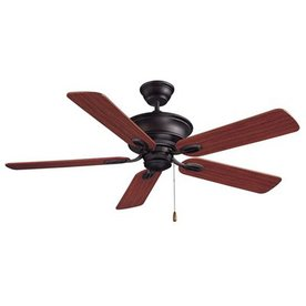 Volume International 52-in Rainier Foundry Bronze Ceiling Fan