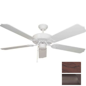Volume International 52-in Marti Antique Bronze Ceiling Fan ENERGY STAR