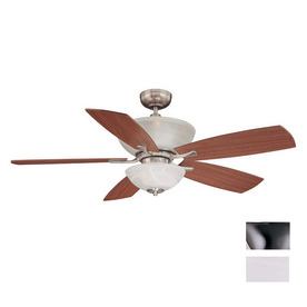 Volume International 52-in Brushed Nickel Ceiling Fan with Light Kit and Remote