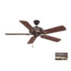 Volume International 52-in Vintage Bronze with Antique Gold Ceiling Fan
