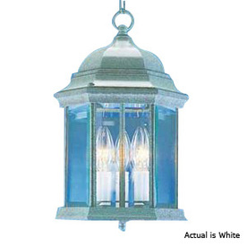 Volume International 14-3/4-in White Outdoor Pendant Light