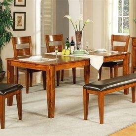 Steve Silver Company Mango Light Oak Rectangular Dining Table
