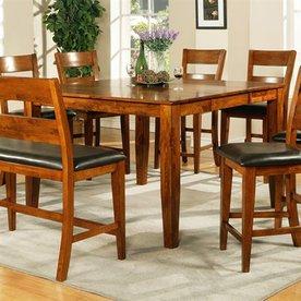 Steve Silver Company Mango Light Oak Square Dining Table