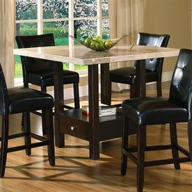 Steve Silver Company Monarch Black Square Dining Table