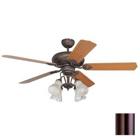 Yosemite Home Decor 52-in Rosie Oil-Rubbed Bronze Ceiling Fan with Light Kit and Remote