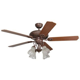 Yosemite Home Decor 52-in Rosie Tuscan Bronze Ceiling Fan with Light Kit and Remote