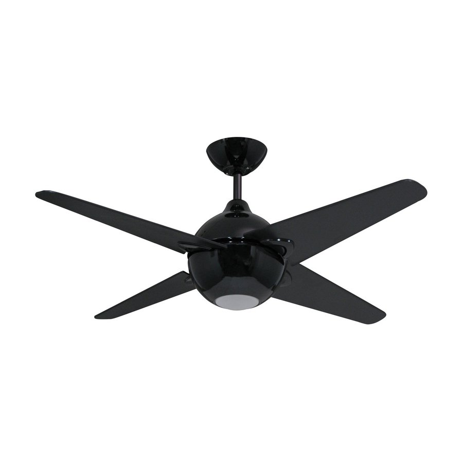 Shop Yosemite Home Decor Spectrum 42 In Black Indoor Downrod Mount Ceiling Fan With Light Kit