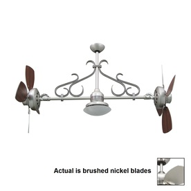 Yosemite Home Decor 26-in Typhoon Brushed Nickel Ceiling Fan with Light Kit and Remote