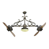 Yosemite Home Decor Typhoon 26-in Oil-Rubbed Bronze Indoor Downrod Mount Ceiling Fan with Light Kit and Remote