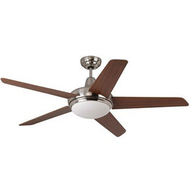 Yosemite Home Decor 52-in Wynonna Brushed Steel Ceiling Fan with Light Kit and Remote