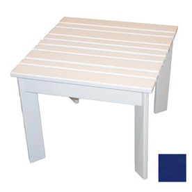 Prairie Leisure Design 16-in x 16-in Berry Blue Wood Square Patio Side Table