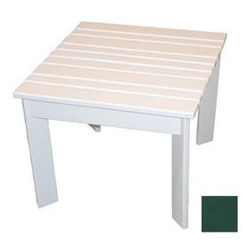 Prairie Leisure Design 16-in x 16-in Hunter Green Wood Square Patio Side Table