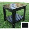 Shine Company 24-in x 19-in Black Cedar Rectangle Patio Side Table