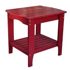 Shine Company 24-in x 19-in Cherry Red Cedar Rectangle Patio Side Table