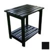 Shine Company 19.75-in x 14-in Black Cedar Rectangle Patio Side Table