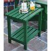 Shine Company 19.75-in x 14-in Hunter Green Cedar Rectangle Patio Side Table