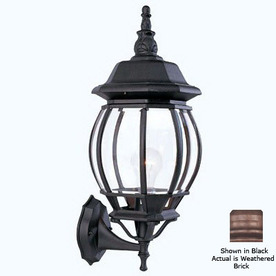 Livex Lighting Basics 18-in Weathered Brick Outdoor Wall Light
