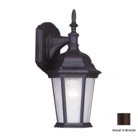Livex Lighting Hamilton 12-1/2-in Bronze Outdoor Wall Light