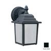 Thomas Lighting Hawthorne 10-in Black Outdoor Wall Light ENERGY STAR