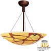 Access Lighting 18-in W Safari Brushed Steel Pendant Light