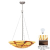 Access Lighting 18-in W Safari Bronze Art Glass Pendant Light