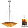 Access Lighting 24-in W Safari Bronze Art Glass Pendant Light