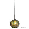 Access Lighting 5-in W Safari Brushed Steel Art Glass Mini Pendant Light with Ribbed Shade